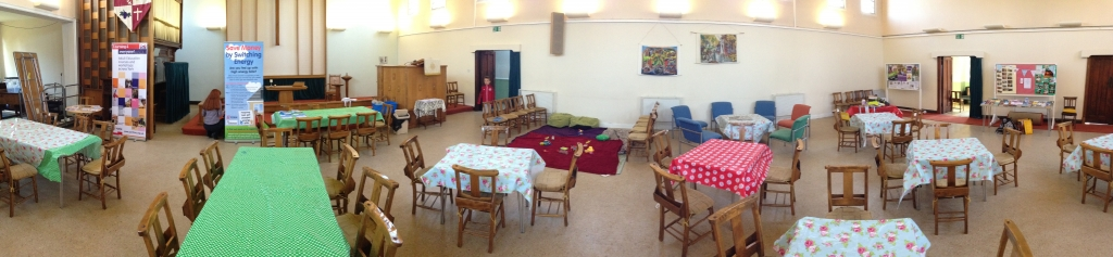 Panorma of Main Church Setup for Cafe